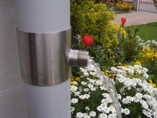 Recup pluie inox collecteur d 39 eau de pluie en inox - Collecteur eau de pluie leroy merlin ...